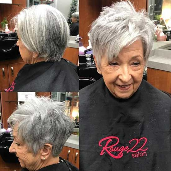 Short Pixie Haircut Styles for Women Over 50-9