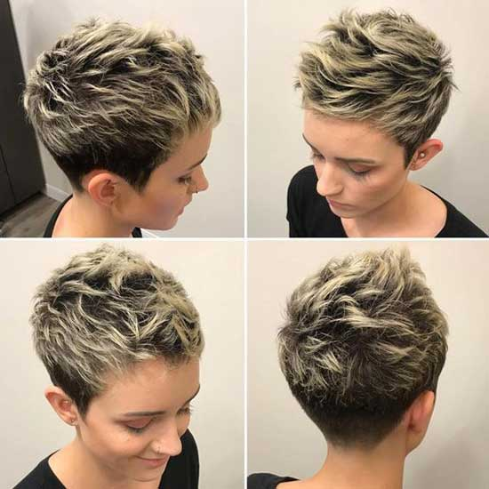 Blonde Balayage Super Short Female Haircuts-13