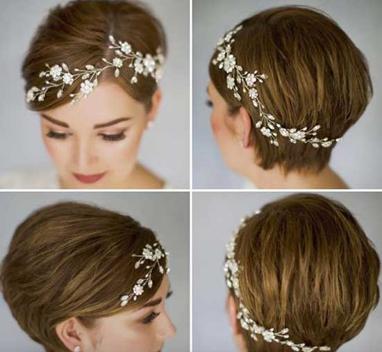 Classy Bridal Hairstyles for Short Hair-14