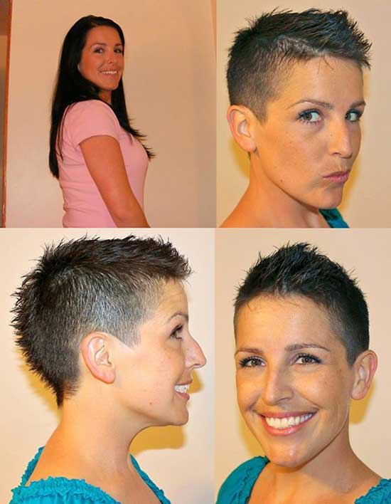 Super Short Female Dark Brown Haircuts-14