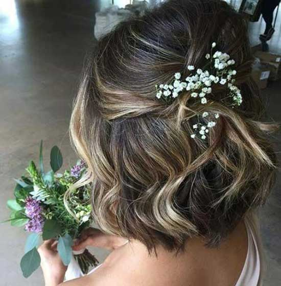 Easy Bridal Hairstyles for Short Hair-15