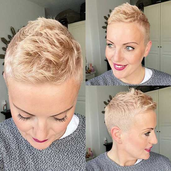 Rose Gold Super Short Female Haircuts-16