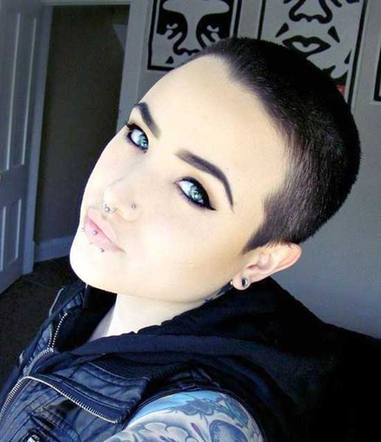 Super Short Shaved Head Haircuts-17