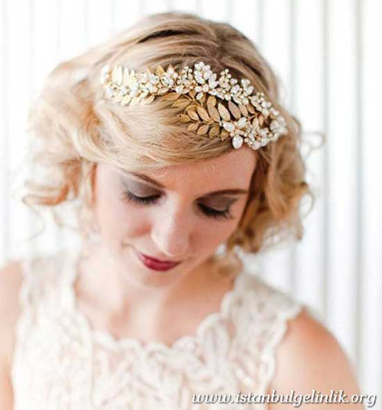 Vintage Bridal Hairstyles for Short Hair-17