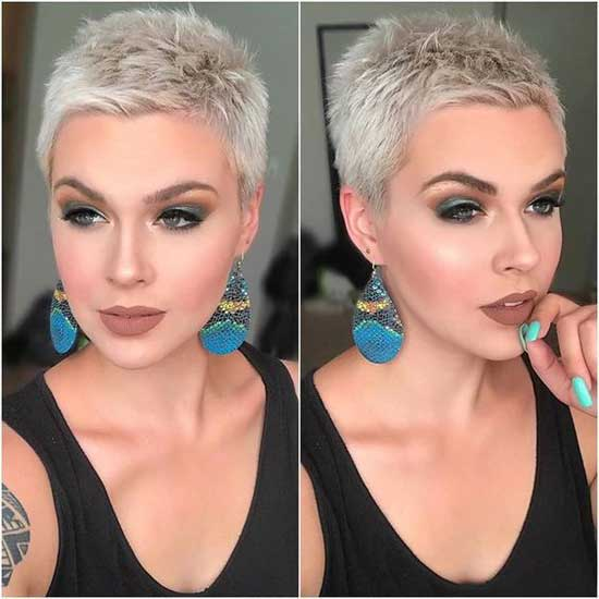 Super Short Female Blonde Haircuts-24