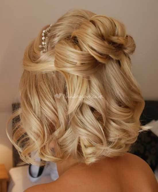 Bridal Hairstyles for Short Hair-28