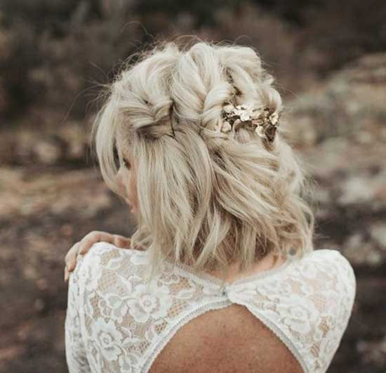 Bridal Hairstyles for Short Hair-29