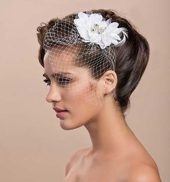Bridal Hairstyles for Short Hair-31