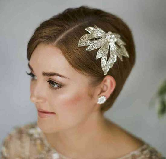 Bridal Hairstyles for Short Hair-33