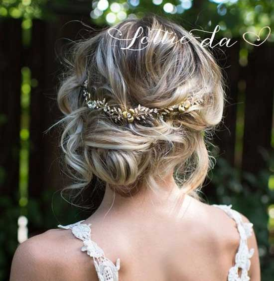 Bridal Hairstyles for Short Hair-34