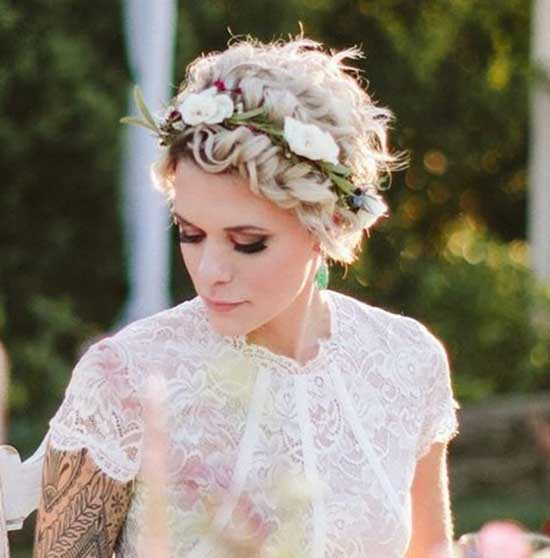 Bridal Hairstyles for Short Hair-35