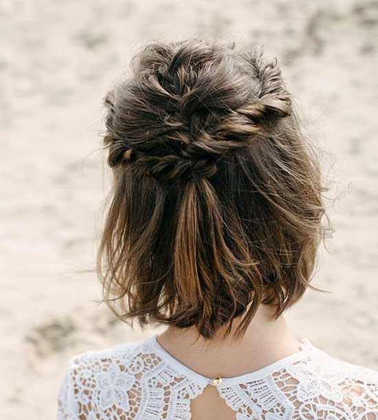Bridal Hairstyles for Short Hair-36
