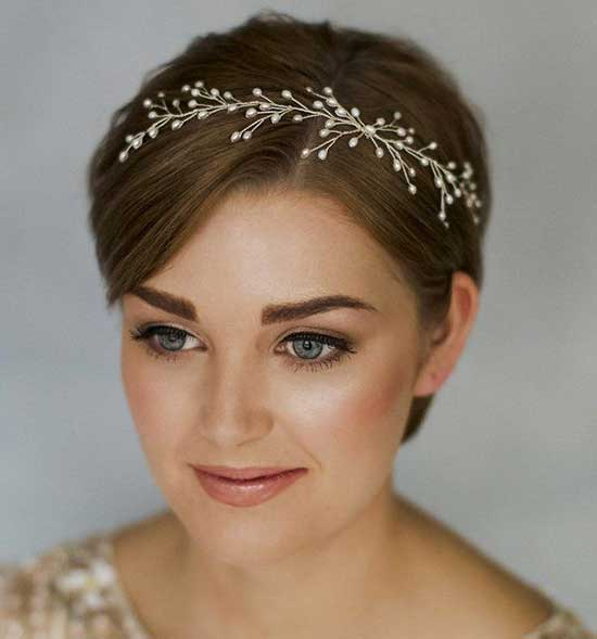 Bridal Hairstyles for Short Hair-37