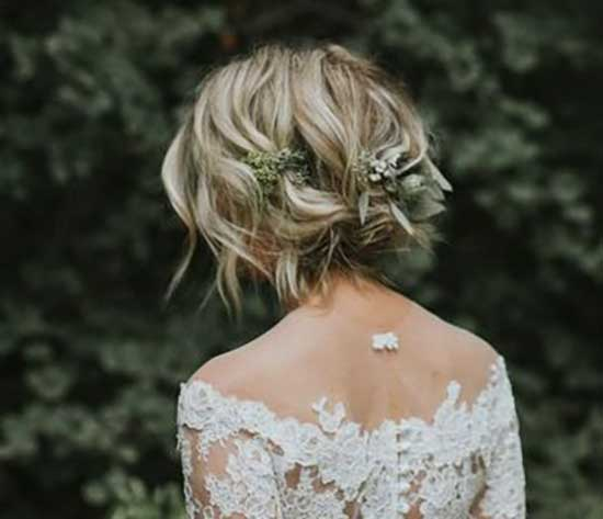 Bridal Hairstyles for Short Hair-38