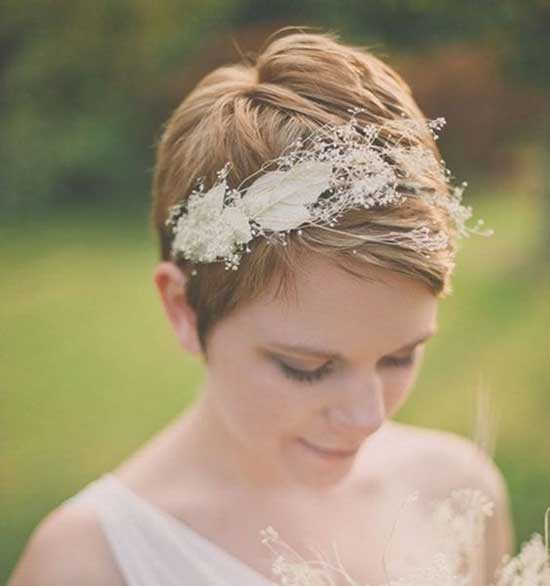 Bridal Hairstyles for Short Hair-39
