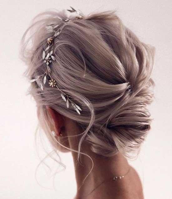 Bridal Hairstyles for Short Hair-40