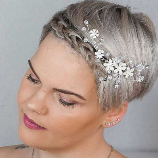 Bridal Hairstyles for Short Pixie Hair-8
