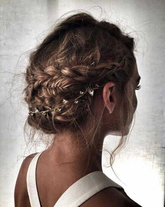 Cute Messy Braids for Short Hair-10