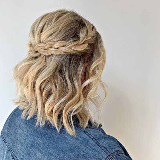 Cute Braids for Blonde Short Hair-12