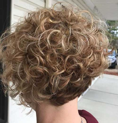 Back View of Pixie Haircuts for Curly Hair-18