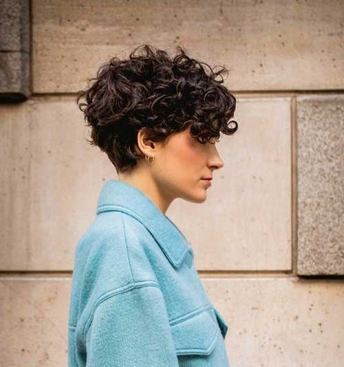 Pixie Haircuts for Curly Hair-25