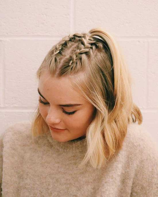 Cute French Braids for Short Hair-6