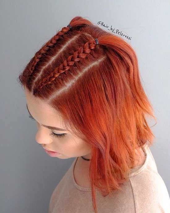 Cute Braids for Short Red Hair-7