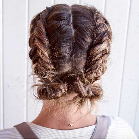 Cute Updo Braids for Short Hair-9