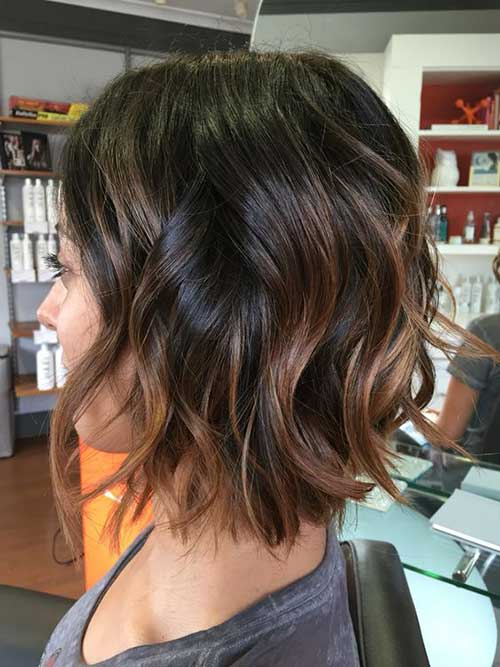 Cute Dark Brown Hairstyles-11