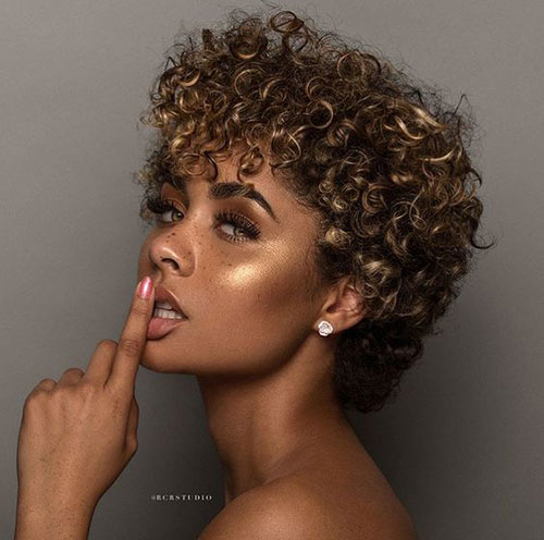 Natural Short Hairstyles for Black Females-25