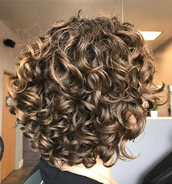 Short Bob Hairstyles for Curly Hair-10