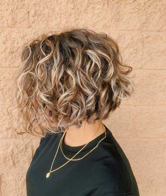 Choppy Bob Hairstyles for Curly Hair-11