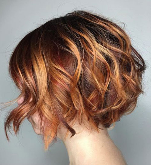 Wavy Short Styles with Highlights-14
