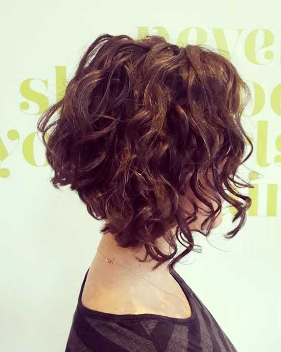 Easy Bob Hairstyles for Curly Hair-17
