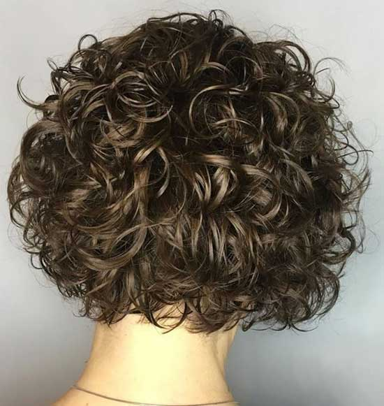 Brown Bob Hairstyles for Curly Hair-6