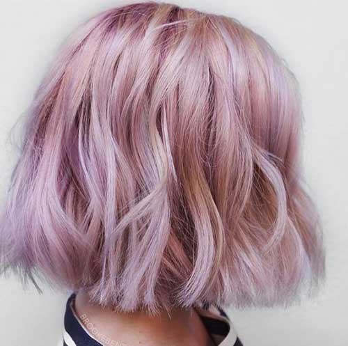 Pink Wavy Short Styles-8