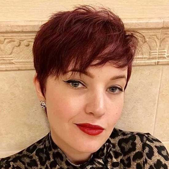 Straight Red Pixie Cuts-8