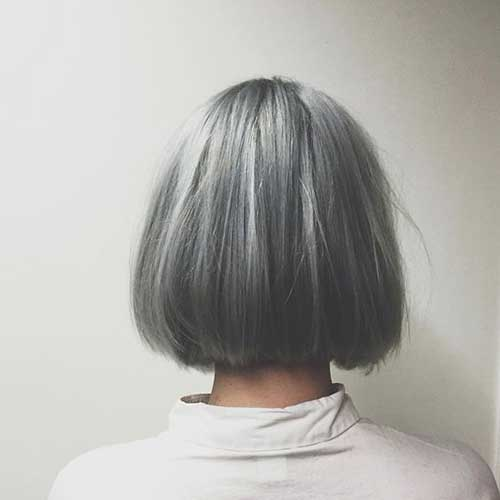 Cute Short Grey Hair Color Ideas-12