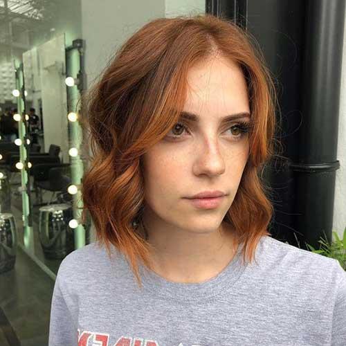 Cute Short Hair Copper Color Ideas-8